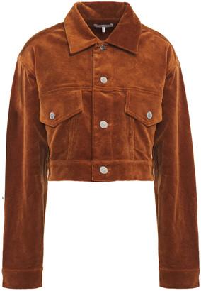 Ganni Cropped Cotton-blend Corduroy Jacket