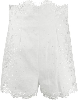 Zimmermann Super Eight embroidered shorts