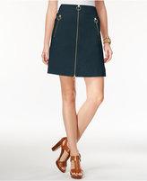 MICHAEL Michael Kors Zipper A-Line Skirt