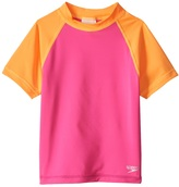 Speedo Girls' Short Sleeve Colorblock Rash Guard (46X) - 8154751