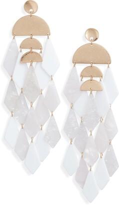 Stella + Ruby Merengue Resin Drop Earrings