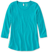 L.L. Bean Pima Cotton Tee, Three-Quarter-Sleeve Side-Button Tunic