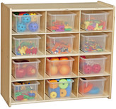 Nickelodeon Wood Designs Contender Baltic 12 Compartment Cubby Assembly: Ships Ready to Assemble