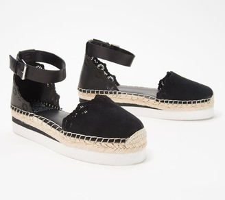 Vince Camuto Leather Two-Piece Espadrilles- Breshan