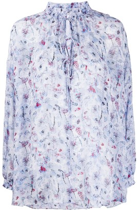 IRO Floral Embroidered Blouse