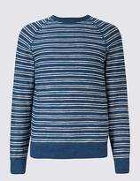 Marks and Spencer Pure Cotton Striped Jumpers