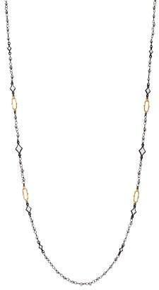 Armenta 18K Yellow Gold & Blackened Sterling Silver Old World Crivelli Moonstone Beaded Necklace, 36""