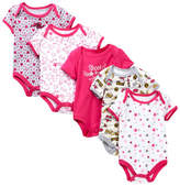 Betsey Johnson Printed Bodysuits - Pack of 5 (Baby Girls)