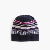 J.Crew Merino wool hat in Fair Isle