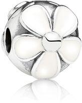 Pandora Daisies white enamel silver clip