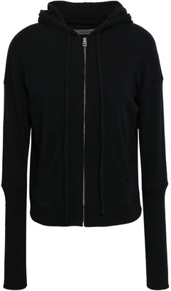 Enza Costa Melange Cotton-blend Hooded Sweatshirt