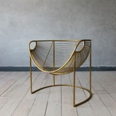 Graham and Green Mulberry Leaf Lounger In Gold