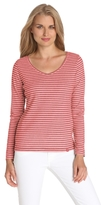 Dickies Women's Long Sleeve V-Neck Brushed Thermal Top