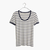 Madewell Recycled Cotton Ringer Tee in Harmon Stripe