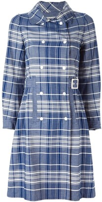 Courrèges Pre Owned Checked Trench Coat