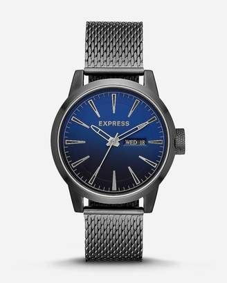 Express Empire Silver Mesh Strap Multi-Function Watch