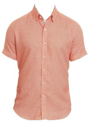 Robert Graham Liam Houndstooth Short-Sleeve Shirt