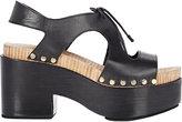 Balenciaga WOMEN'S PLATFORM SANDALS-BLACK SIZE 11