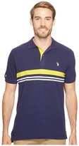 U.S. Polo Assn. Striped Classic Fit Short Sleeve Pique Polo Shirt