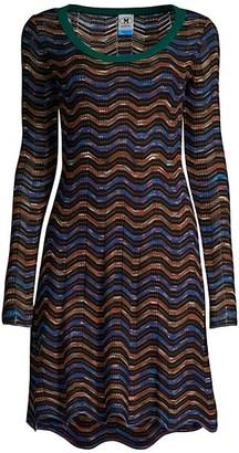 M Missoni Chevron Knit Mini Dress