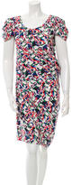 Balenciaga Abstract Print Scoop Neck Dress