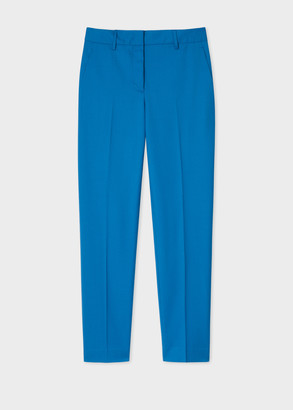 Paul Smith A Suit To Travel In - Women's Classic-Fit Blue Wool Pants