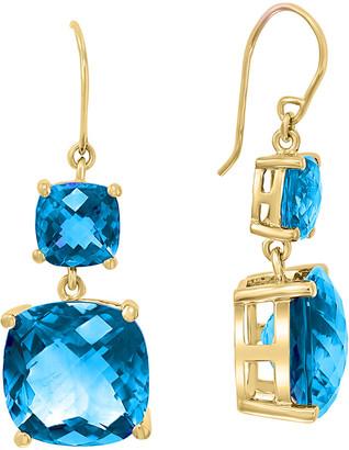 Effy 14K 17.35 Ct. Tw. Diamond & Blue Topaz Earrings
