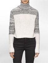 Calvin Klein Womens Textured Chunky Turtleneck Sweater