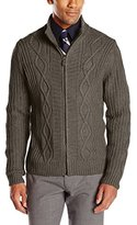 Haggar Men's Full-Zip Cardigan Sweater
