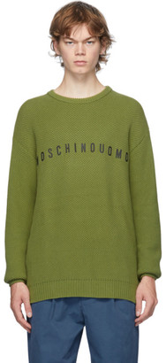 Moschino Green Crewneck Sweater
