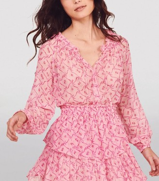 LoveShackFancy Silk Popover Mini Dress