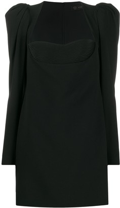 Versace structured shoulder bodice dress