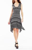 BCBGMAXAZRIA Ane Striped Knit Jacquard Dress
