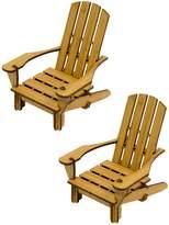 Cardboard Safari Bamboo Adirondack Chair Coaster Figures (Set of 2)