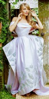 Nika Heaven Off the Shoulder Exaggerated Draped Ball Gown