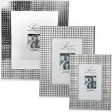 Lawrence Frames Silver-Plated Hollywood Picture Frame with Metal Squares