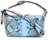 Ganni snake-effect shoulder bag