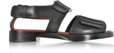 3.1 Phillip Lim Addis Black Leather Flat Sandal