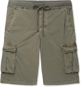 James Perse Cotton-Blend Drawstring Cargo Shorts