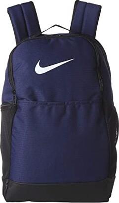 Nike Brasilia Medium Backpack 9.0 (Midnight Navy/Black/White) Backpack Bags
