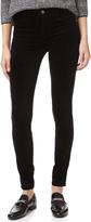 J Brand 815 Mid Rise Velvet Super Skinny Pants