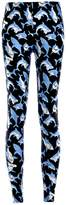 Lady Queen Women's Basic Blue Sharks Print Stretch Skinny Leggings Pants Size M