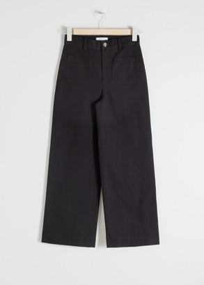 And other stories High Waisted Twill Trousers