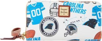 Dooney & Bourke NFL Panthers Large Zip Around Wristlet