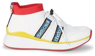 Roberto Cavalli Sport Logo Lace-Up Vamp Sneakers
