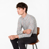 Paul Smith Men's 'Regent Floral' Print Shirt With 'Artist Stripe' Cuff Lining