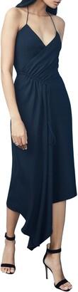Cushnie Asymmetrical Drape Halter Dress