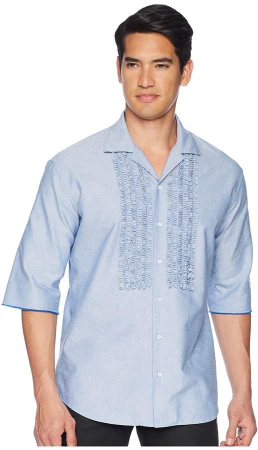 DSQUARED2 Ruffled Roll Up Shirt Men's Clothing