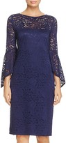 Laundry by Shelli Segal Bell-Sleeve Lace Dress