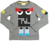 Fendi Monster Printed Cotton Jersey T-Shirt